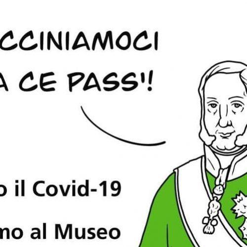 Green pass alla Reggia, lo dice Re Francesco I in giacca verde