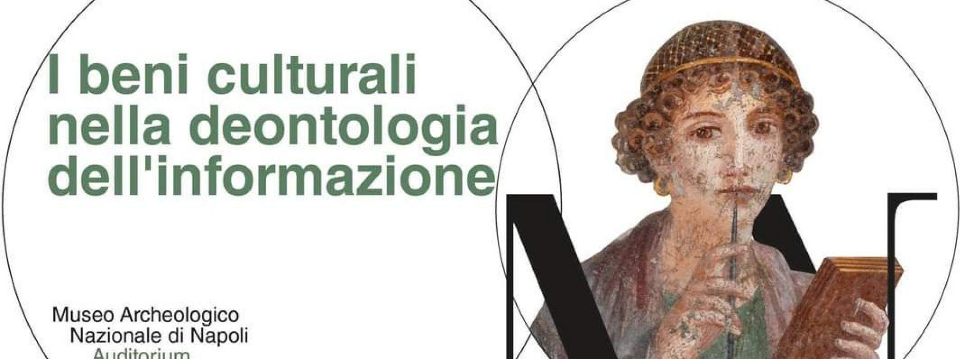 Beni culturali e deontologia dell'informazione, c'è il corso