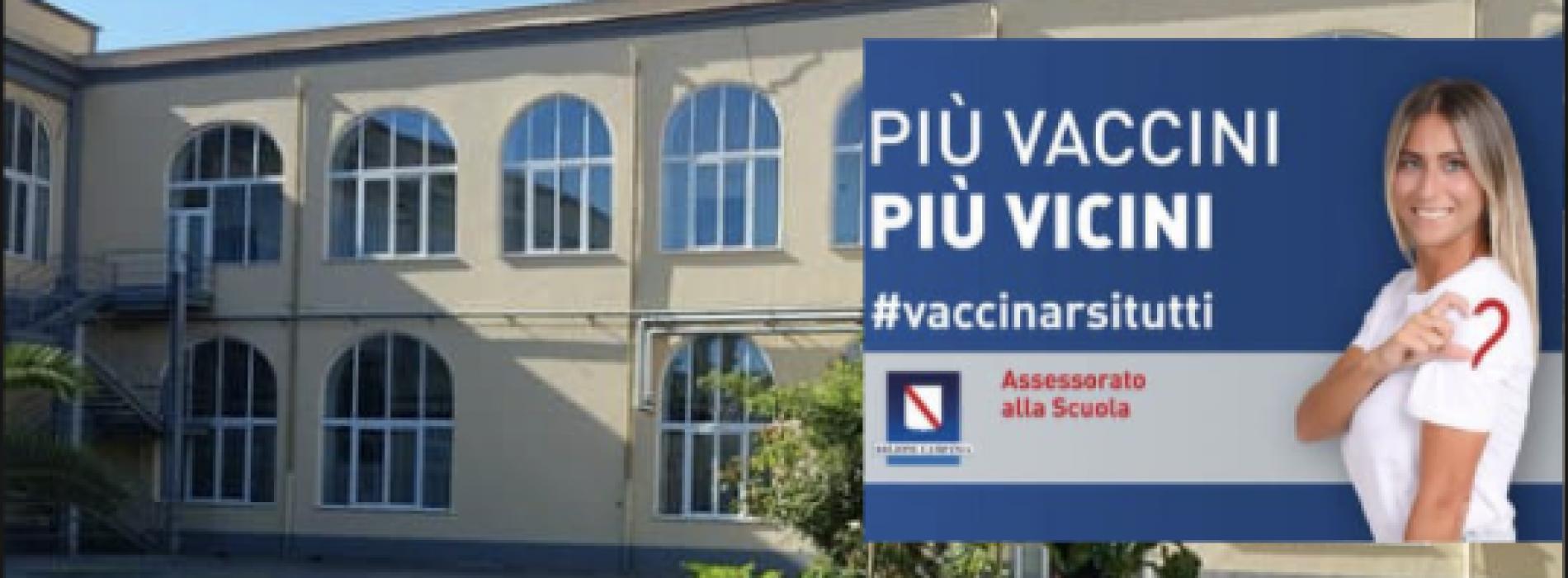Scuola Sicura, fa tappa a Marcianise il camper vaccinale