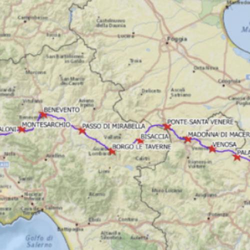 In cammino sull'Appia, Giulio Ielardi farà tappa nel Casertano