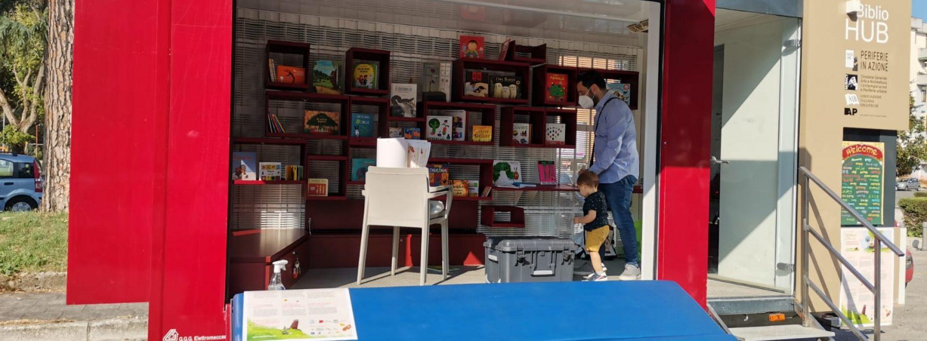 Tappa a Caserta per il Bibliohub, è un centro mobile per i libri